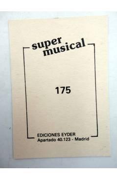 Contracubierta de CROMO SUPER MUSICAL 175. GUITARRA ELÉCTRICA. Eyder Circa 1980