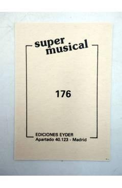 Contracubierta de CROMO SUPER MUSICAL 176. CANTANTE CHICO. Eyder Circa 1980