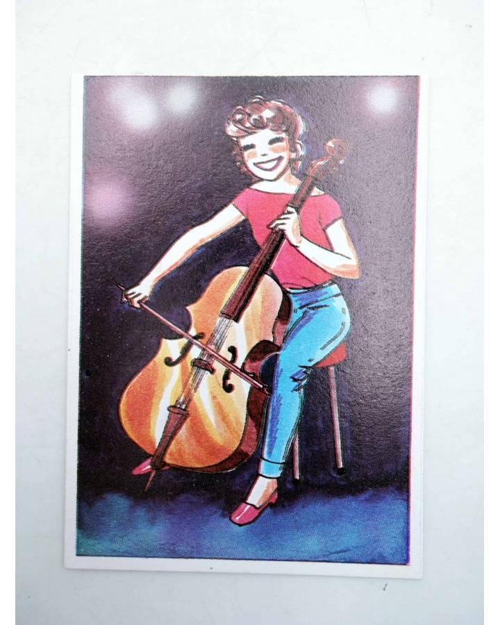 Cubierta de CROMO SUPER MUSICAL 185. VIOLA CON ARCO. Eyder Circa 1980