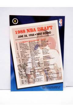 Contracubierta de TRADING CARD NBA BASKETBAL 1 DRAFT PICK 8. 1988 DANNY MANNING - CLIPPERS. Topps 1993
