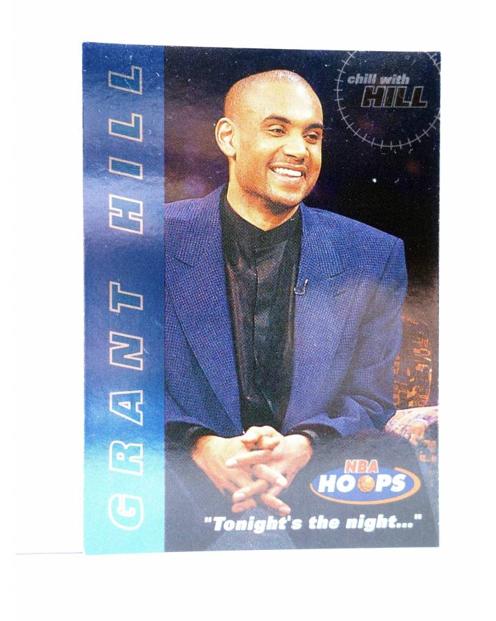 Cubierta de TRADING CARD BASKETBALL NBA HOOPS CHILL WITH GRANT HILL 1 OF 10. Skybox 1997