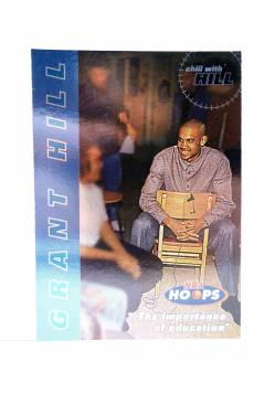 Cubierta de TRADING CARD BASKETBALL NBA HOOPS CHILL WITH GRANT HILL 8 OF 10. Skybox 1997