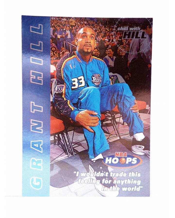 Cubierta de TRADING CARD BASKETBALL NBA HOOPS CHILL WITH GRANT HILL 10 OF 10. Skybox 1997