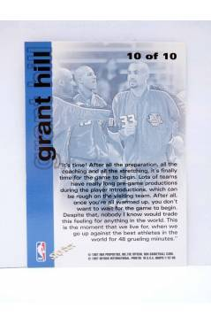 Contracubierta de TRADING CARD BASKETBALL NBA HOOPS CHILL WITH GRANT HILL 10 OF 10. Skybox 1997