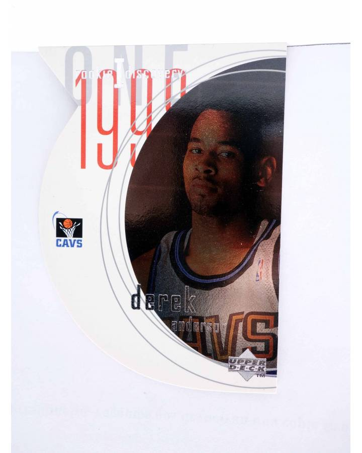 Cubierta de TRADING CARD NBA BASKETBALL ROOKIE I DISCOVERY R13. DEREK ANDERSON. Upper Deck 1998