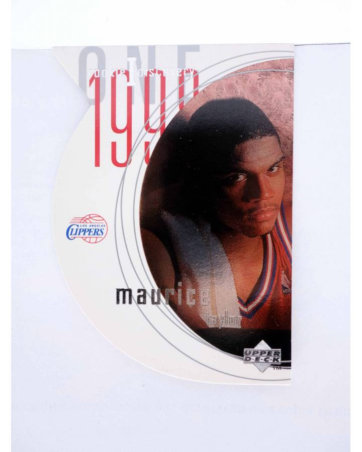 Cubierta de TRADING CARD NBA BASKETBALL ROOKIE I DISCOVERY R14. MAURICE TAYLOR. Upper Deck 1998