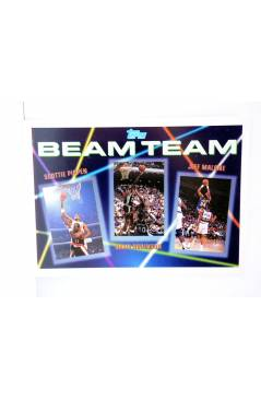 Cubierta de TRADING CARD NBA BASKETBALL BEAM TEAM 2 of 7. PIPPEN / ROBINSON / MALONE. Topps 1993