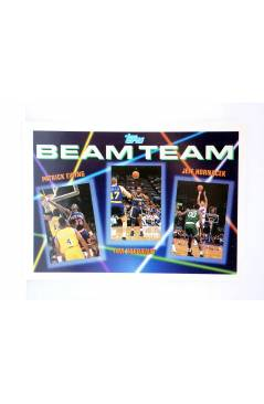 Cubierta de TRADING CARD NBA BASKETBALL BEAM TEAM 6 of 7. EWING / HARDAWAY / HORNACECK. Topps 1993