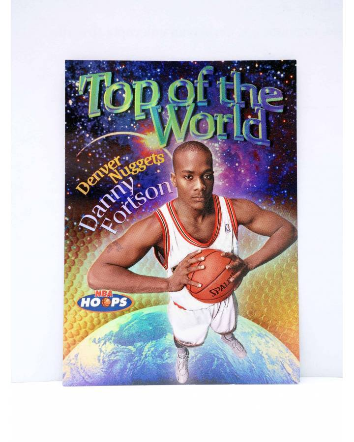 Cubierta de TRADING CARD BASKETBALL NBA HOOPS TOP OF THE WORLD TW9 OF 15. DANNY FORTSON. SkyBox 1998