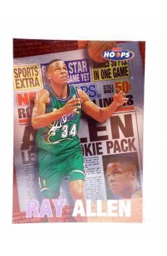 Cubierta de TRADING CARD BASKETBALL NBA HOOPS ROOKIE HEADLINER 4 OF 10 CB. RAY ALLEN. SkyBox 1997