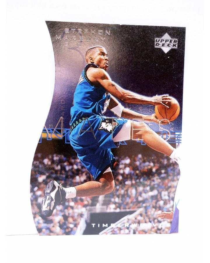 Cubierta de TRADING CARD BASKETBALL NBA TEAM MATES T32. STEPHON MARBURY. Upper Deck 1997