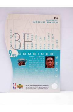 Contracubierta de TRADING CARD BASKETBALL NBA TEAM MATES T55. SHAREEF ABDUR RAHIM. Upper Deck 1997