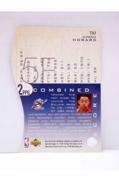 Contracubierta de TRADING CARD BASKETBALL NBA TEAM MATES T57. JUWAN HOWARD. Upper Deck 1997
