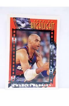 Cubierta de TRADING CARD NBA BASKETBALL 1992-93 HIGHLIGHT 1. CHARLES BARKLEY. Upper Deck 1993
