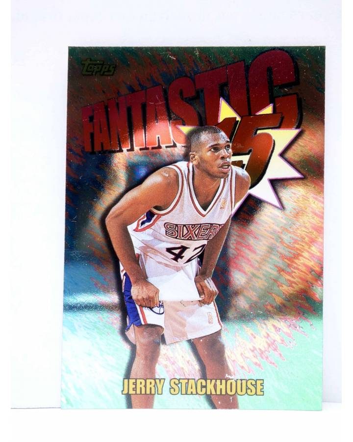 Cubierta de TRADING CARD BASKETBALL NBA FANTASTIC 15 F11. JERRY STACKHOUSE. Topps 1997
