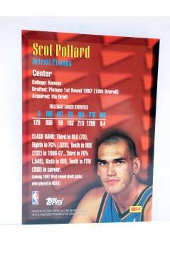 Contracubierta de TRADING CARD BASKETBALL NBA NEW SCHOOL NS14. SCOTT POLLARD. Topps 1997