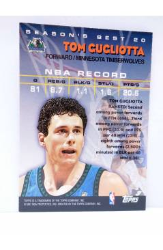 Contracubierta de TRADING CARD BASKETBALL NBA SEASON'S BEST 20. TOM GUGLIOTTA. Topps 1997