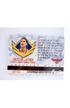 Contracubierta de TRADING CARD BASKETBALL NBA HOOPS AIRLINES FREQUENT FLYER 1 OF 20. CHRISTIAN LAETTNER. SkyBox 1997