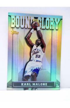 Cubierta de TRADING CARD BASKETBALL NBA BOUND FOR GLORY BG7. KARL MALONE. Topps 1997