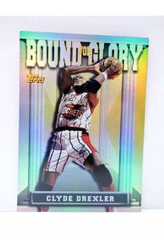 Cubierta de TRADING CARD BASKETBALL NBA BOUND FOR GLORY BG13. CLYDE DREXLER. Topps 1997