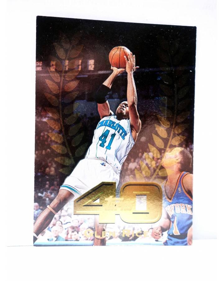 Cubierta de TRADING CARD BASKETBALL NBA TOP 40 T40-1. GLENN RICE. Topps 1997