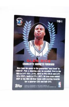 Contracubierta de TRADING CARD BASKETBALL NBA TOP 40 T40-1. GLENN RICE. Topps 1997