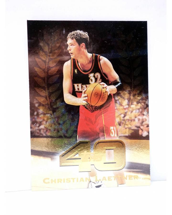 Cubierta de TRADING CARD BASKETBALL NBA TOP 40 T40-6. CHRISTIAN LAETTNER. Topps 1997