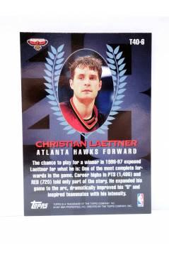 Contracubierta de TRADING CARD BASKETBALL NBA TOP 40 T40-6. CHRISTIAN LAETTNER. Topps 1997
