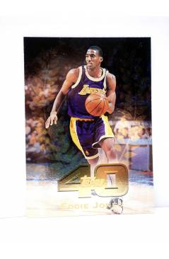 Cubierta de TRADING CARD BASKETBALL NBA TOP 40 T40-12. EDDIE JONES. Topps 1997