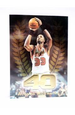 Cubierta de TRADING CARD BASKETBALL NBA TOP 40 T40-37. ALONZO MOURNING. Topps 1997