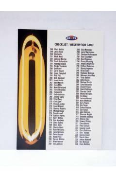 Cubierta de TRADING CARD BASKETBALL NBA HOOPS SERIES 2 REDEMPTION CARD CHECKLIST AU2. SkyBox 1998