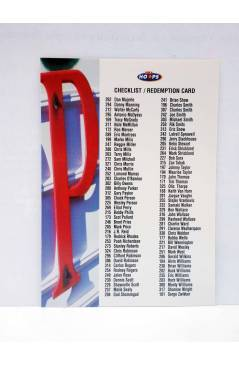 Cubierta de TRADING CARD BASKETBALL NBA HOOPS SERIES 2 REDEMPTION CARD CHECKLIST AU4. SkyBox 1998