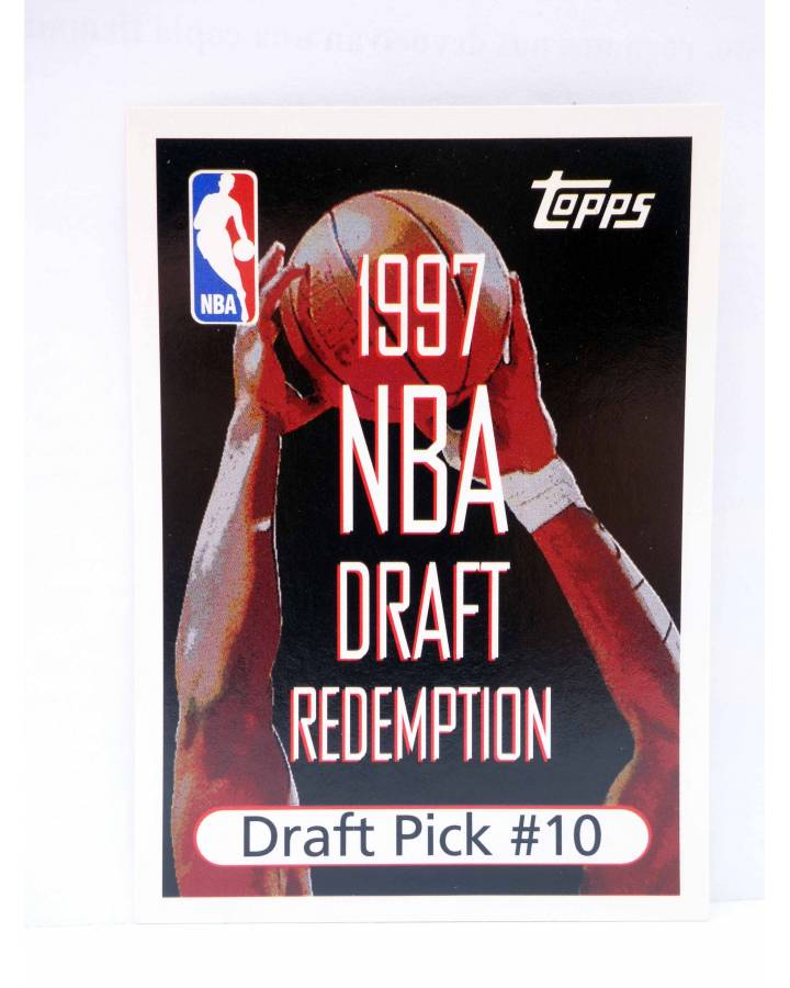 Cubierta de TRADING CARD BASKETBALL NBA DRAFT REDEMPTION. DRAFT PICK 10. Topps 1997