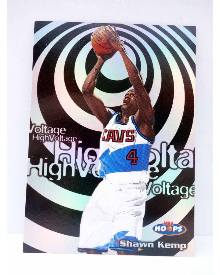 Cubierta de TRADING CARD BASKETBALL NBA HOOPS HIGH VOLTAGE HV18. SHAWN KEMP. SkyBox 1998