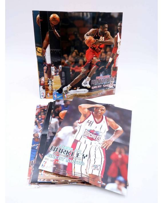 Cubierta de SKY BOX TRADING CARDS BASKETBALL NBA HOOPS GREAT SHOTS 1 A 30 SALVO 25. CASI COMPLETA. SkyBox 1998