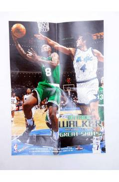 Contracubierta de SKY BOX TRADING CARDS BASKETBALL NBA HOOPS GREAT SHOTS 1 A 30 SALVO 25. CASI COMPLETA. SkyBox 1998
