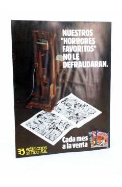 Contracubierta de MONSTERS. RELATOS GRÁFICOS PARA ADULTOS 2. FRANKENSTEIN / WALLESTEIN (Vvaa) Zinco 1982