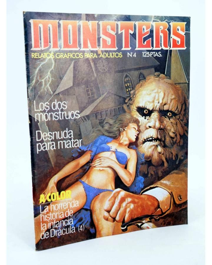 Cubierta de MONSTERS. RELATOS GRÁFICOS PARA ADULTOS 4. FRANKENSTEIN / WALLESTEIN (Vvaa) Zinco 1982