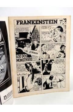 Contracubierta de MONSTERS. RELATOS GRÁFICOS PARA ADULTOS 4. FRANKENSTEIN / WALLESTEIN (Vvaa) Zinco 1982