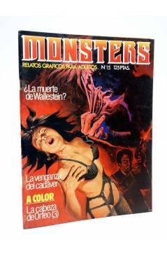 Cubierta de MONSTERS. RELATOS GRÁFICOS PARA ADULTOS 15. FRANKENSTEIN / WALLESTEIN (Vvaa) Zinco 1983