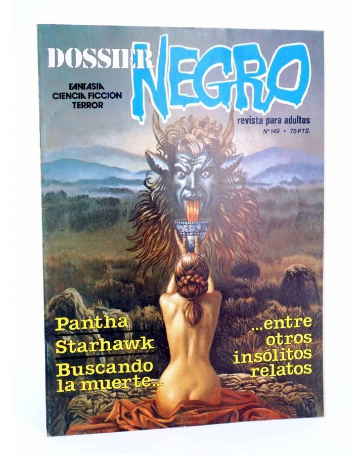 Cubierta de DOSSIER NEGRO 149. PANTHA STARHAWK BUSCANDO LA MUERTE (Vvaa) Delta 1981