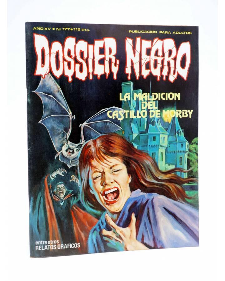 Cubierta de DOSSIER NEGRO 177. LA MALDICIÓN DEL CASTILLO DE MORBY (Vvaa) Giesa 1984