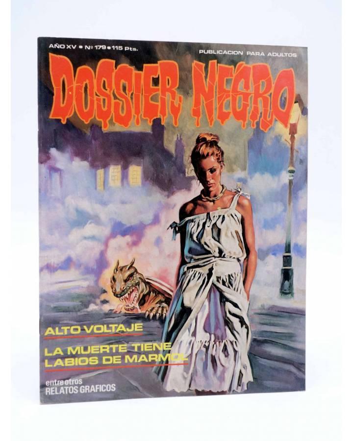 Cubierta de DOSSIER NEGRO 179. ALTO VOLTAJE LA MUERTE TIENE LOS LABIOS DE MÁRMOL (Vvaa) Giesa 1984