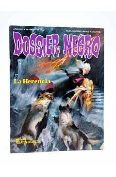 Cubierta de DOSSIER NEGRO 180. LA HERENCIA (Vvaa) Giesa 1984