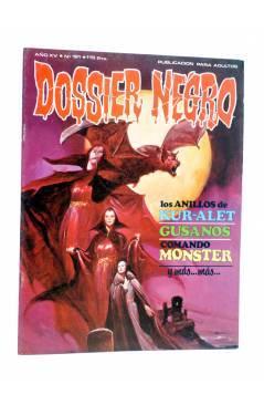 Cubierta de DOSSIER NEGRO 181. LOS ANILLOS DE KUR-ALET GUSANOS COMANDO MONSTER (Vvaa) Giesa 1984