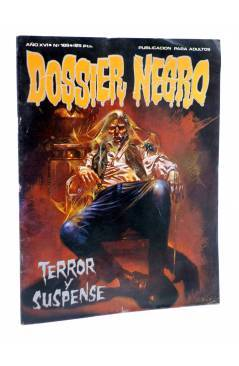 Cubierta de DOSSIER NEGRO 189. TERROR Y SUSPENSE (Vvaa) Giesa 1985
