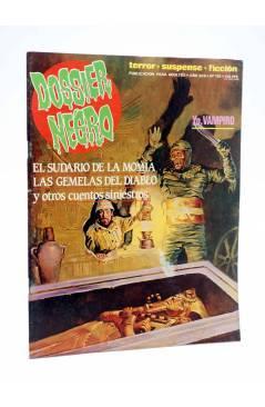 Cubierta de DOSSIER NEGRO 198. EL SUDARIO DE LA MOMIA (Vvaa) Giesa 1986