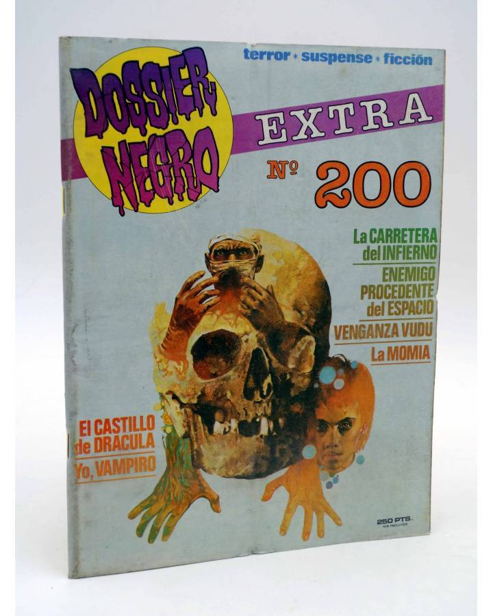 Cubierta de DOSSIER NEGRO 200. N.º EXTRA (Vvaa) Giesa 1986