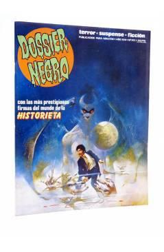 Cubierta de DOSSIER NEGRO 203. LAS MÁS PRESTIGIOSAS FIRMAS DEL MUNDO DE LA HISTORIETA (Vvaa) Zinco 1987