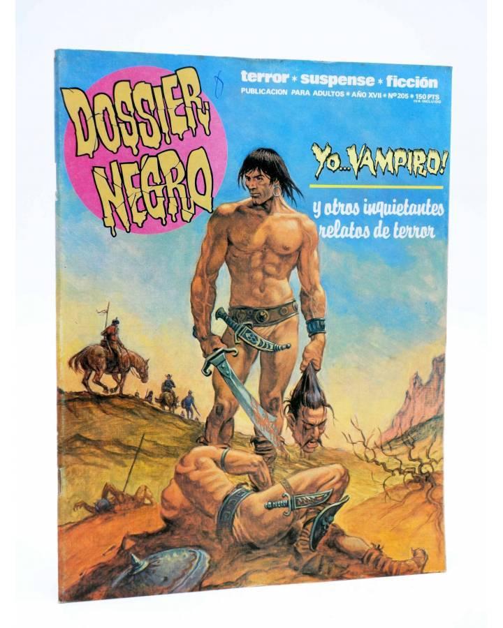 Cubierta de DOSSIER NEGRO 205. YO… VAMPIRO (Vvaa) Zinco 1987